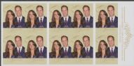 AUS SG3591a Royal Wedding Prince William and Catherine Middleton self-adhesive booklet pane (SB376)